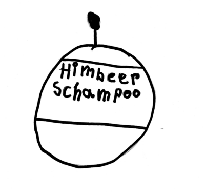 Eine Schwarzweißzeichnung von einem runden Gefäß. Darauf steht